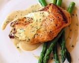 PAN-ROASTED CHICKEN BREASTS  with CREAMY MUSTARD SAUCE