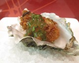 PAN-FRIED OYSTERS with SALSA VERDE