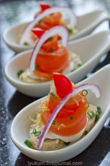 Tequila-Cured Salmon Tostadas