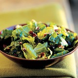MIXED GREEN SALAD with ROASTED TOMATO-GARLIC DRESSING