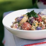 BLUE POTATO HONEY MUSTARD SALAD