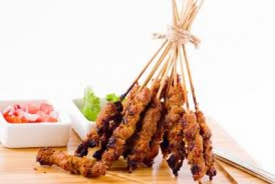 CHICKEN, BEEF or PORK SATAY with PEANUT SAUCE