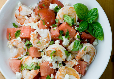 SHRIMP, FETA & WATERMELON SALAD